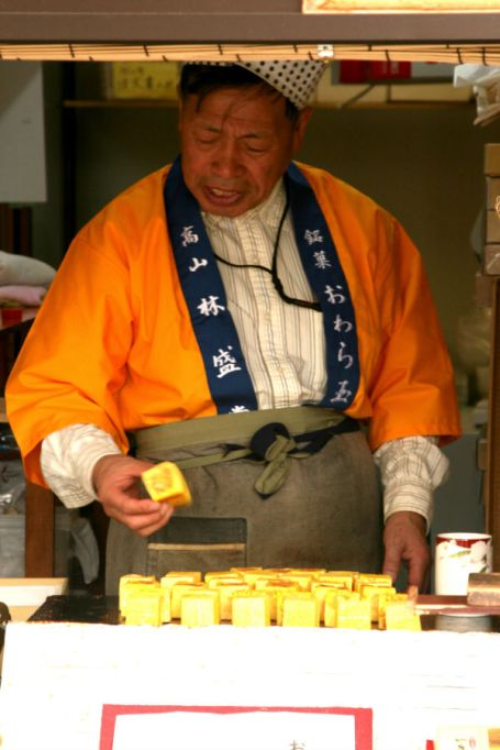 Local man makes traditional Japanese candy